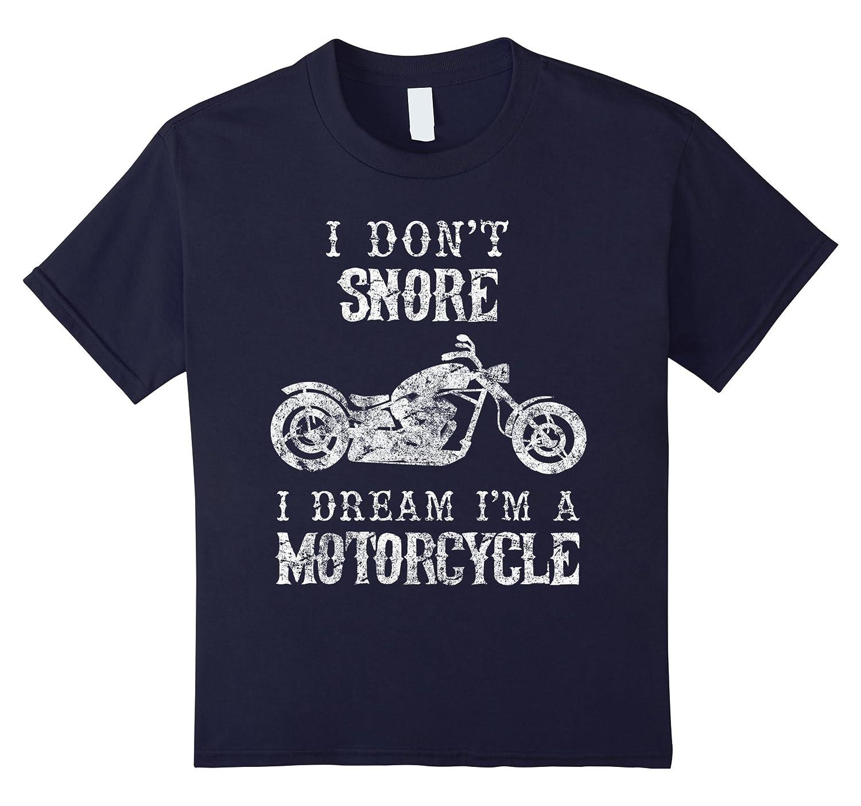 Snore Dream Motorcycle Shirt Dad-Teesml