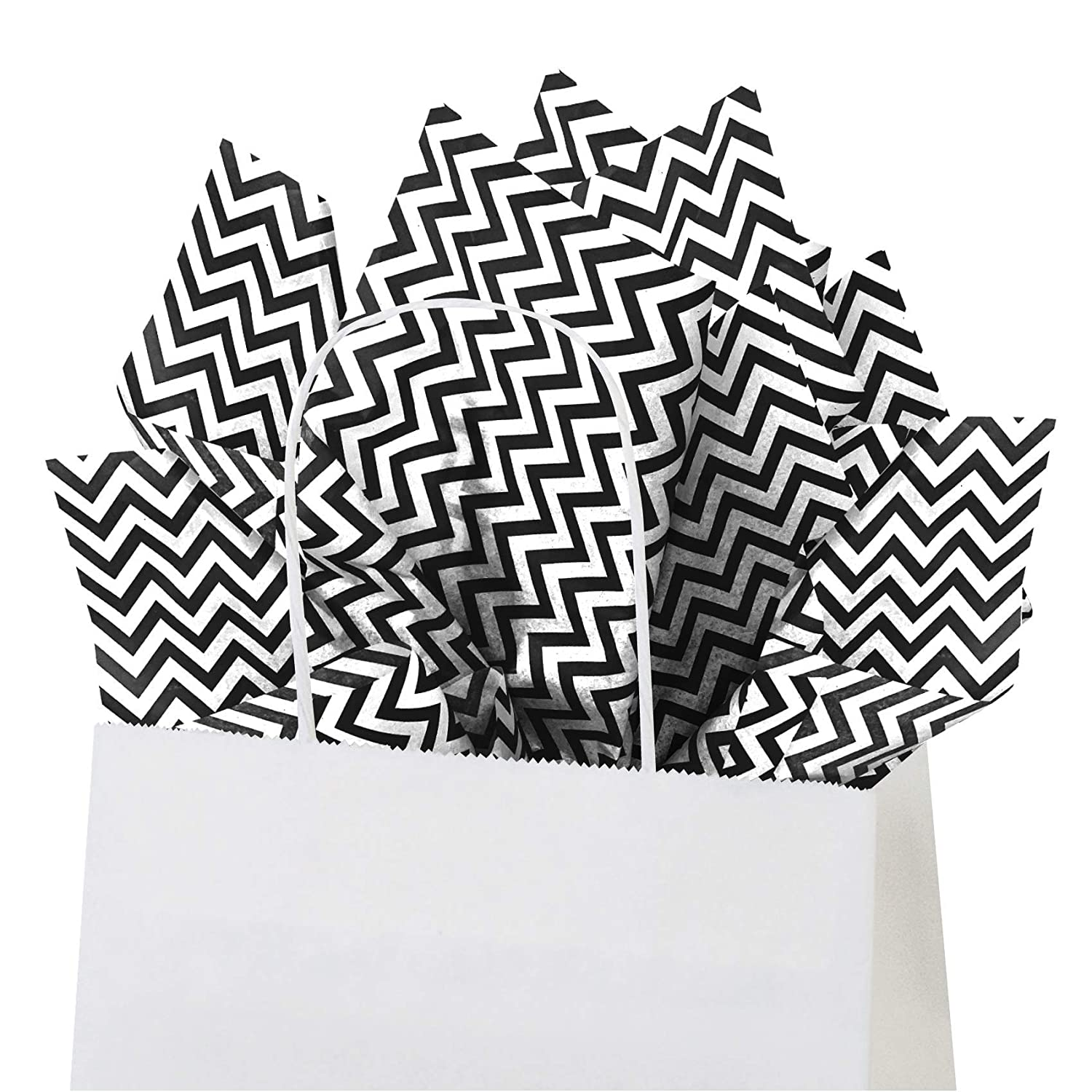 Count 15 Inch X 20 Inch Color 50 Sheets Gray Chevron Flexicore Packaging Gray Chevron Print Gift Wrap Tissue Paper Size