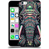 Head Case Designs Elephant Aztec Animal Faces Protective Snap-on Hard Back Case Cover for Apple iPhone 5c