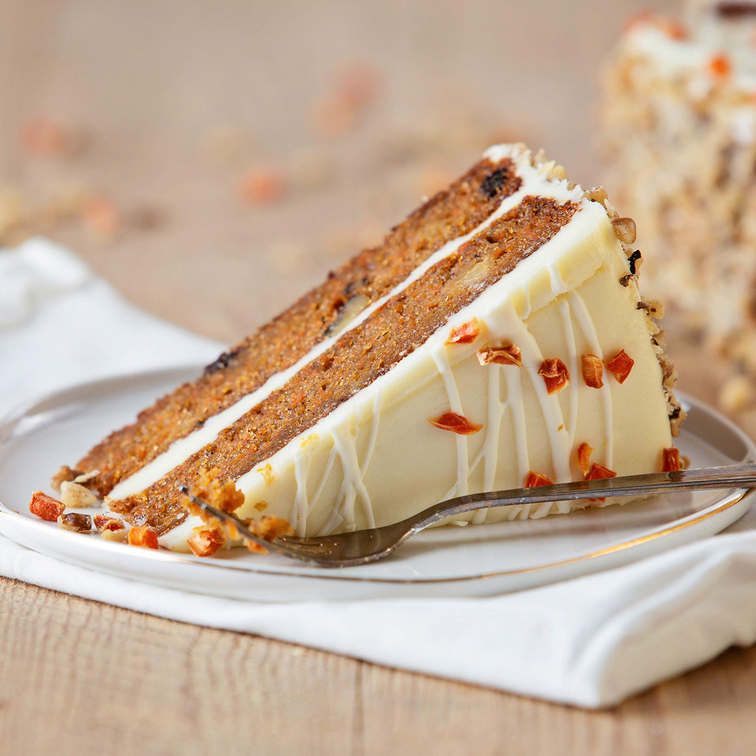 Sweet Street Iced Two Layer Carrot Cake 4.5 lb (14 Slices) Pack of 2