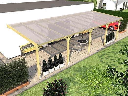 Cubierta para terraza RÜGEN V jardín de invierno, 1000 x 300 cm: Amazon.es: Jardín