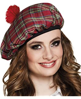 Scottish Hat - Tam O Shanter with Hair · 4.2 out of 5 stars 218 · £2.95 ·  Boland 81225 Mrs. Tartan Costume Beret One Size 07ead5652412