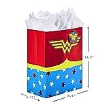 "Hallmark 13"" Large Wonder Woman Gift Bag with"