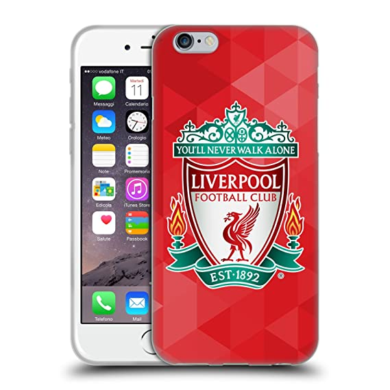 Liverpool Calendario.Official Liverpool Football Club Red Geometric 1 Crest 1 Soft Gel Case For Iphone 6 Iphone 6s