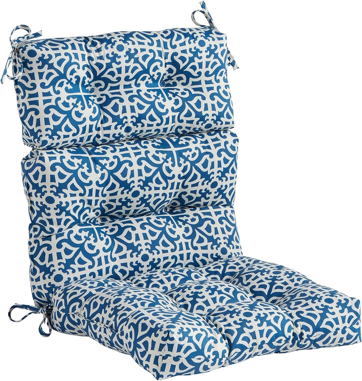 Greendale Home Fashions (Set of 1 Outdoor 44x22-inch High Back Chair Cushion, Indigo