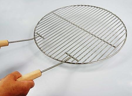 AKTIONA Grille de barbecue ronde en acier inoxydable pour