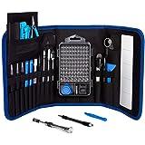 Professional Computer Repair Tool Kit, Precision Laptop, PC Screwdriver Set, with 98 Magnetic Bit, Anti-Static Wrist and…