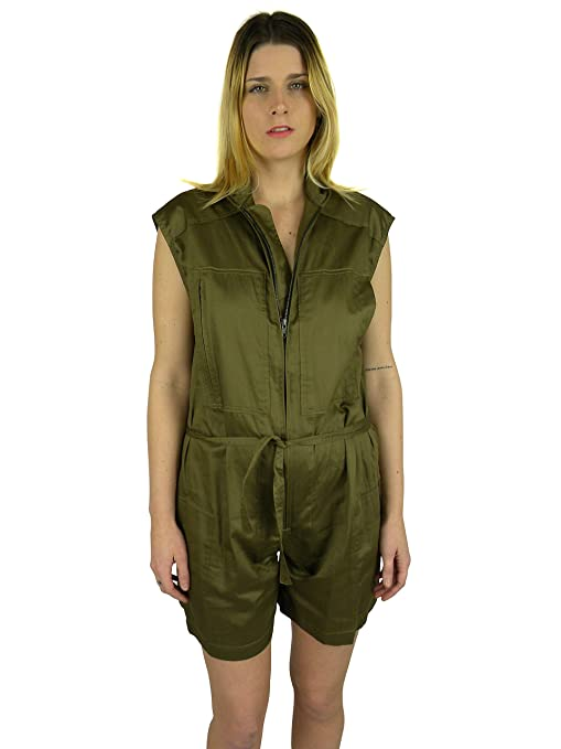 5fef3213ce Isabel Marant Womens Olive Bronze Harring Zipper Cargo Romper 34   Amazon.ca  Luggage   Bags