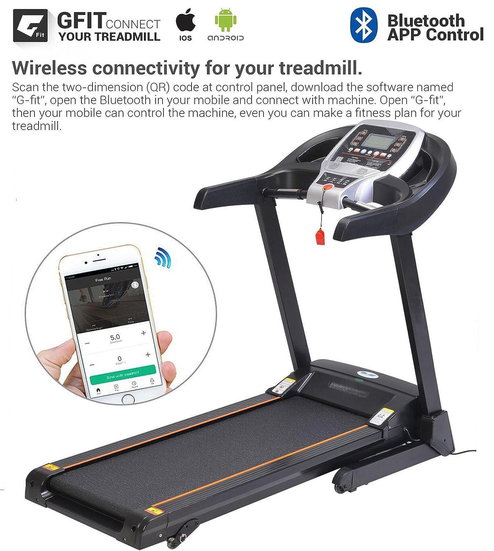 Amazon. Com: dtemple 2. 25hp bluetooth folding treadmill indoor.