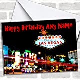 Las Vegas America Customised Birthday Greetings Card Cards Countries Places