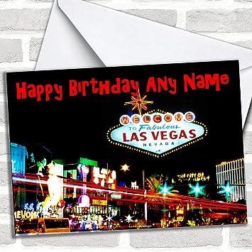 las vegas america customised birthday greetings card birthday cards