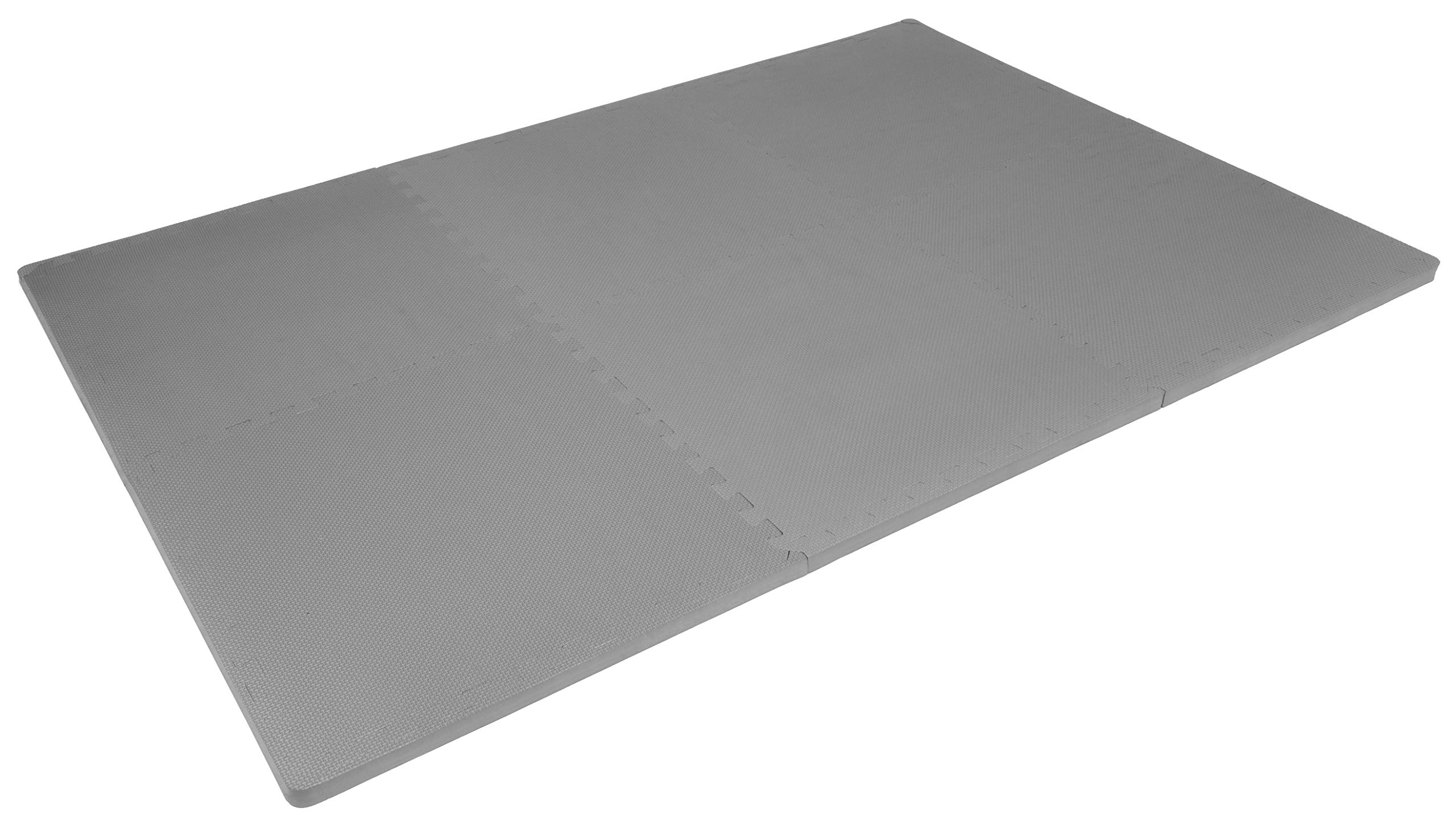 """Prosource Fit Extra Thick Puzzle Exercise Mat 1"""", EVA Foam Interlocking Tiles for Protective, Cushioned Workout Flooring for Home and Gym Equipment, Grey by ProsourceFit (Image #4)"""
