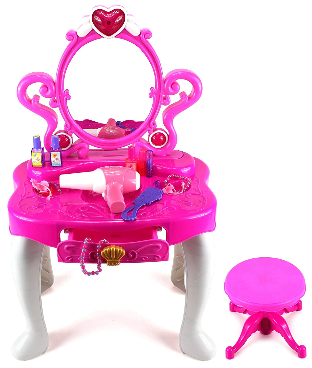 New Amazon.com: Princess Dressing Table Pretend Play Battery Operated  BV97
