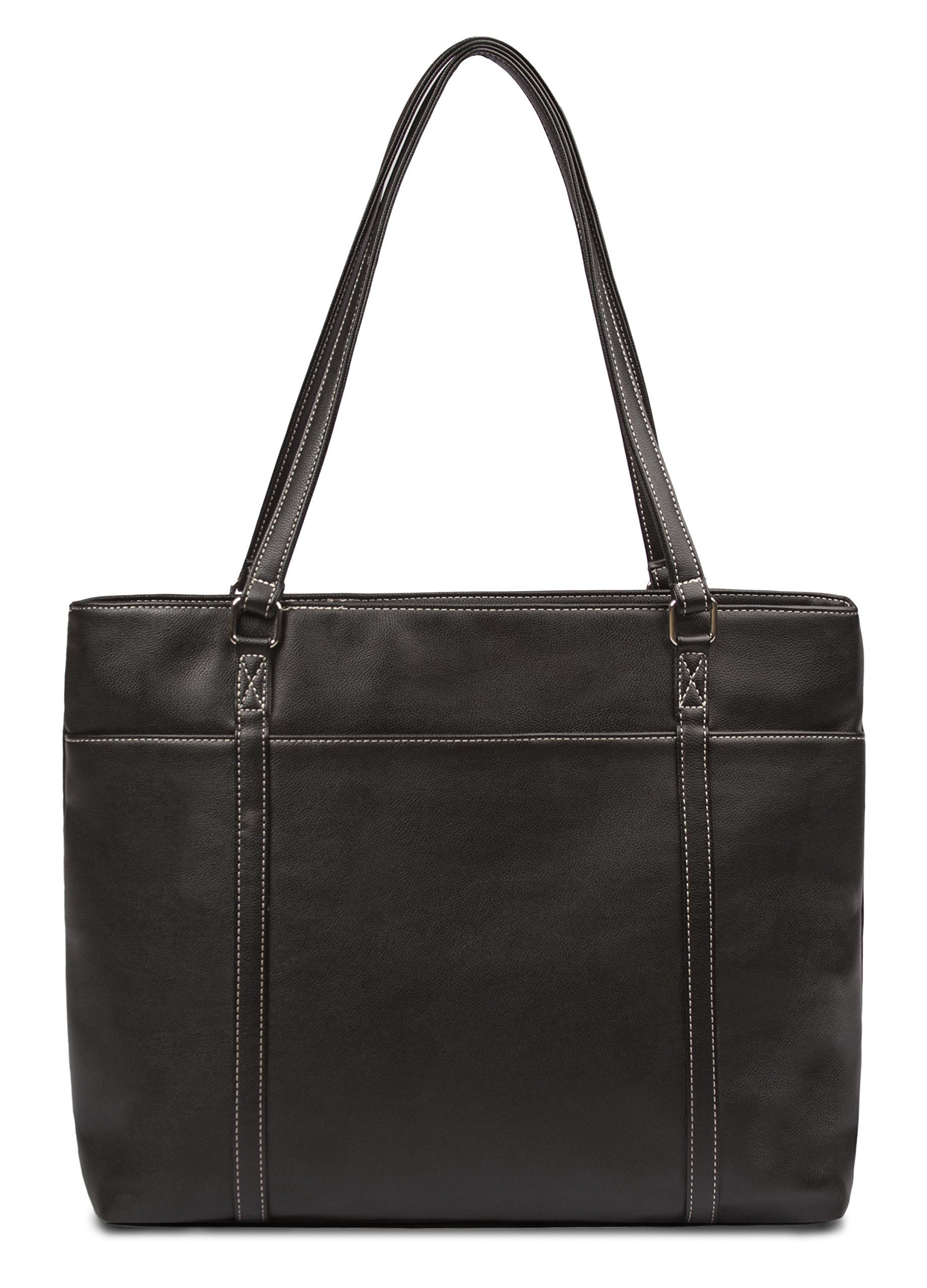 Overbrooke Classic Womens Tote Bag for Laptops  up to 15.6 Inches, Black by Overbrooke (Image #7)