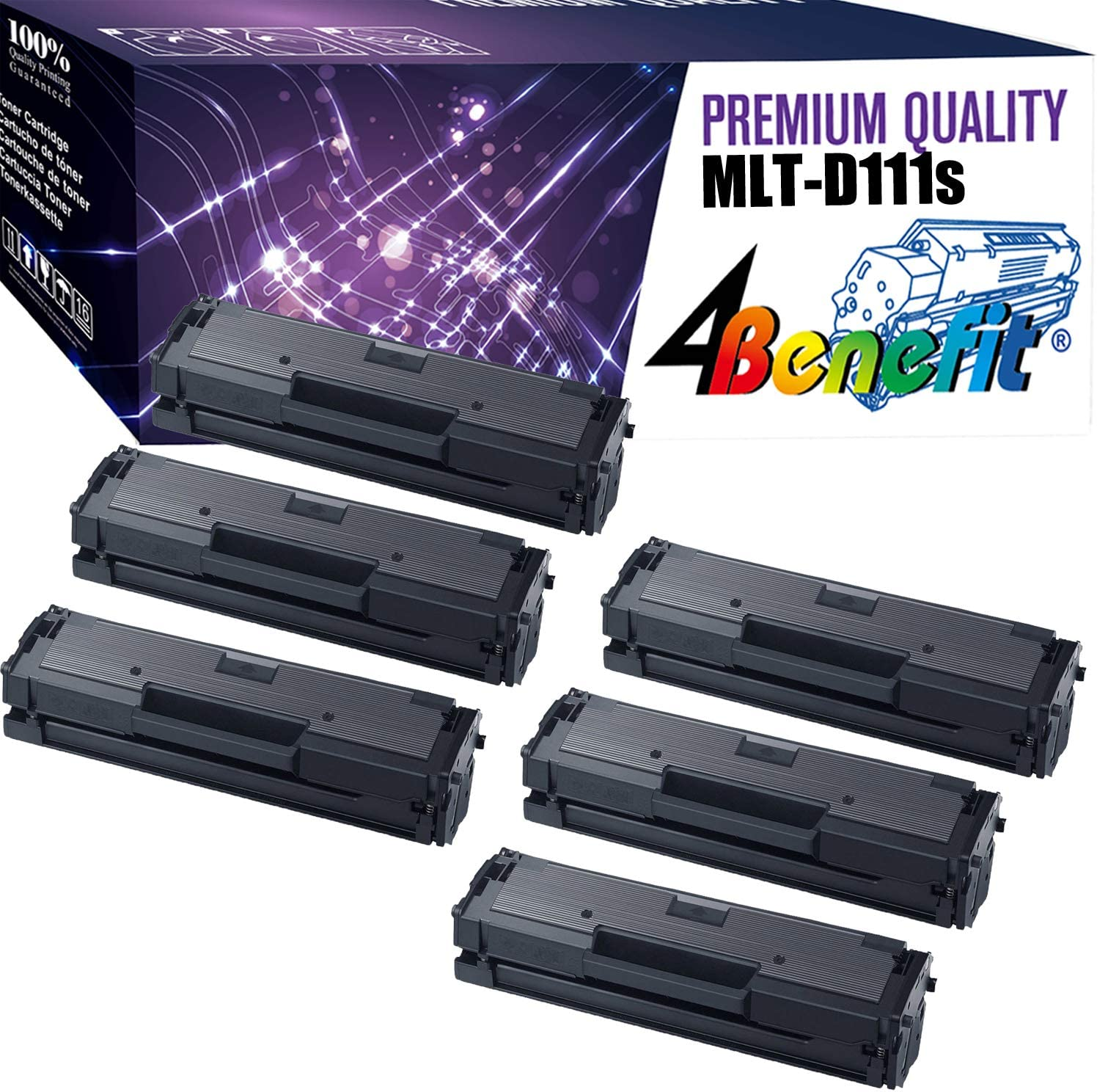 Imaging Toner Cartridge use for Samsung Xpress SL-M2022W SL-M2026 SL-M2070F Printer Black MLT-D111S 2-Pack Compatible High Yield D111S