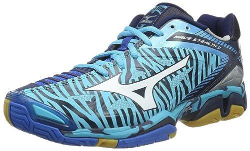 Mizuno Wave Stealth 3, Zapatillas de Balonmano para Mujer, Turquesa (BlueAtol/White/DirBlue), 38 EU: Amazon.es: Zapatos y complementos