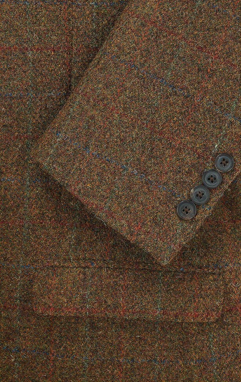 Harris Tweed Homme Veste Tweed Rouille /à Gros Carreaux