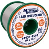 MG Chemicals Sn100e, 99.5% Tin, 0.5% Copper, Trace of Cobalt, Lead Free Solder, No Clean, 0.81mm.032' Dia.