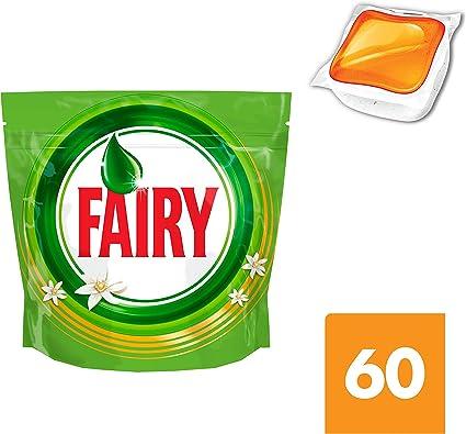 Fairy Todo En 1 Cápsulas de Lavavajillas Naranja - Pack 60 ...