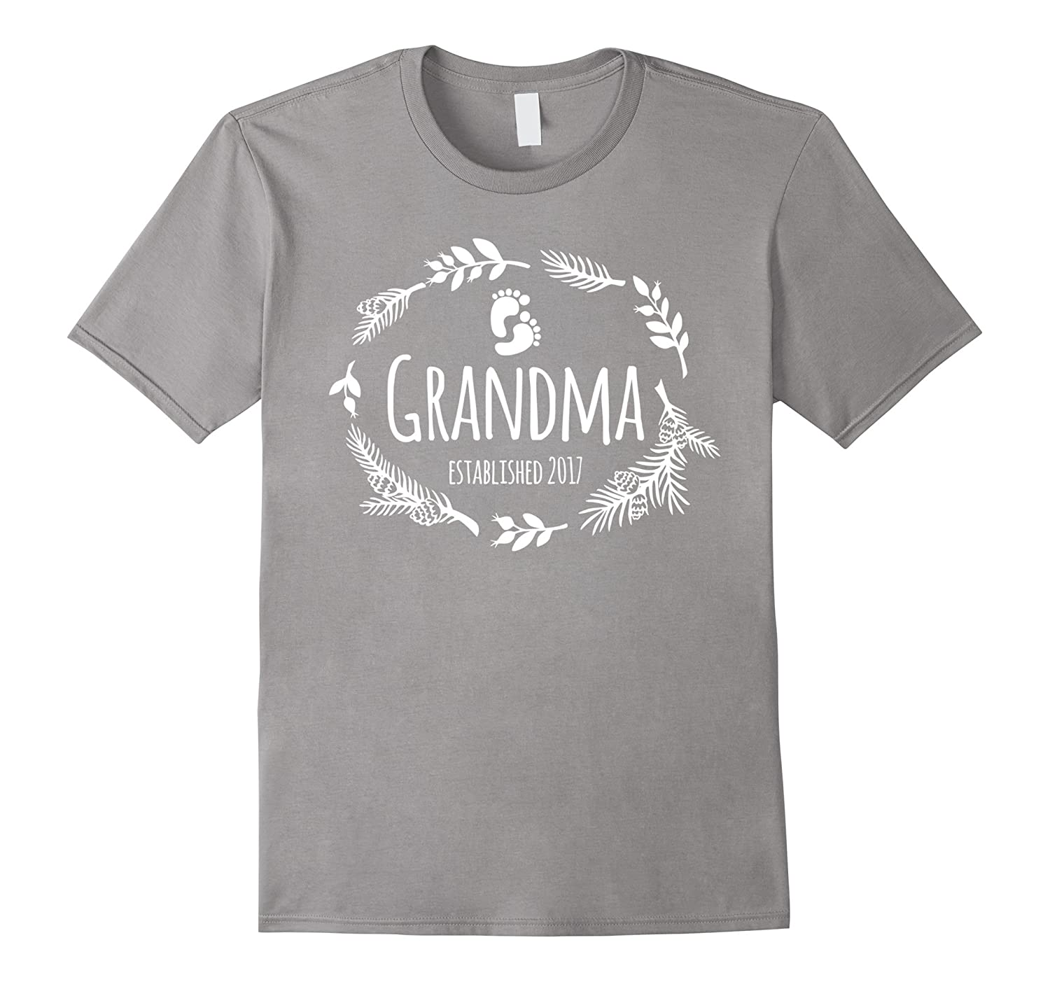 Womens Grandma Established 2017 T Shirt – Cute Baby Feet TD – Teedep