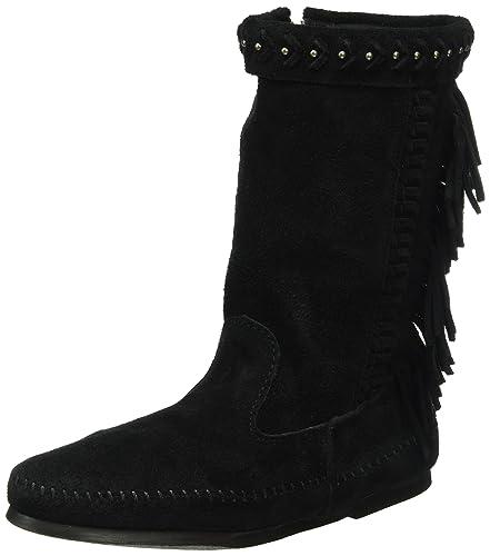 Amazon.com | Minnetonka Women's Luna Fringe Boot - 1699 | Mid-Calf