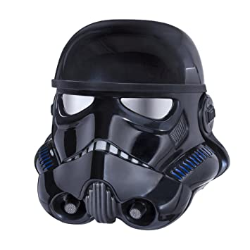 STAR WARS la Serie Negro Shadow Trooper Casco electrónico ...