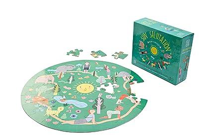YOGi FUN Round Yoga Puzzle Games for Kids with Sun Salutation Yoga Poses
