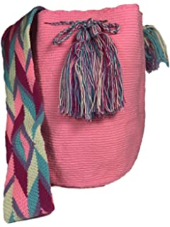 Mochila Wayuu REAL Ethnic Bag -Large- 100% Real Crochet Hand Woven in Colombia