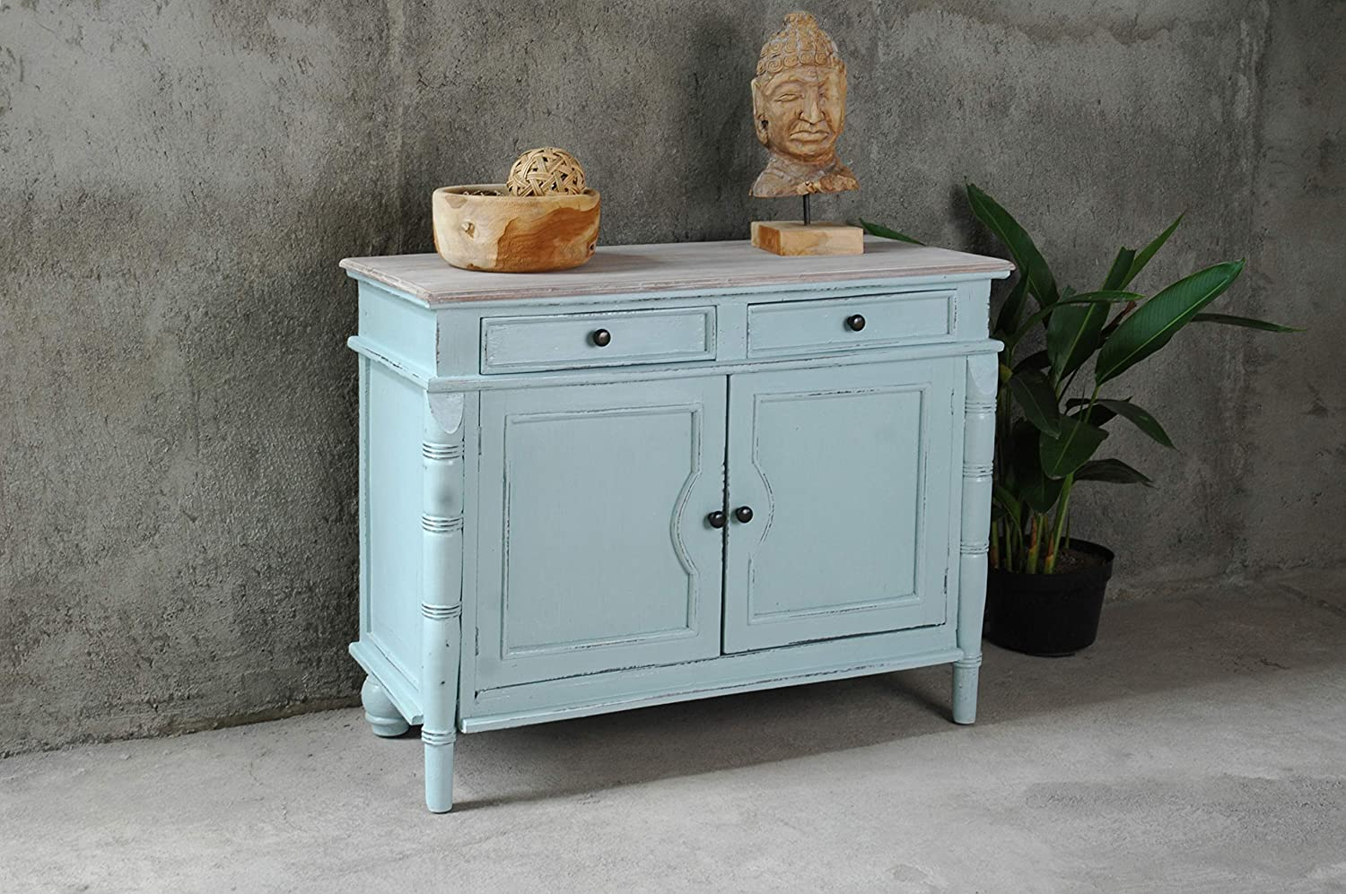 Mobile Buffet Shabby Chic.Amazon Com Sunset Trading Shabby Chic Cottage Buffet Cabinet Sky Blue Limewash Buffets Sideboards