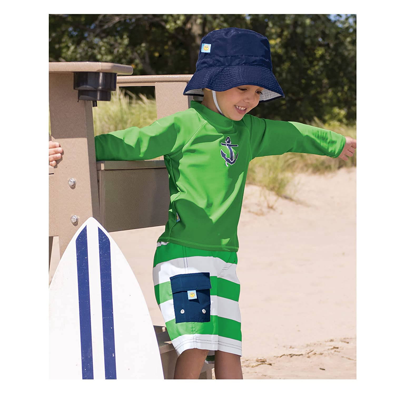 Green Sun Smarties Baby UPF 50 Aqua Turtle Boardshort Swim Diaper 18M