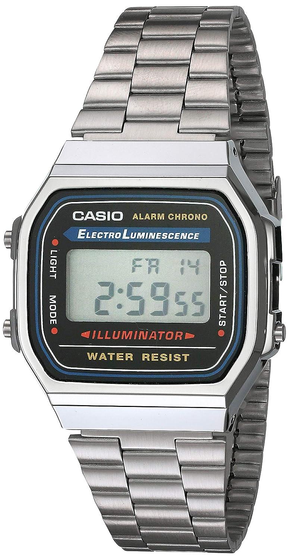 1yes Y Plata Reloj Unisex Gris Casio A168wa CuadradoDigitalColor 0PXN8wnOk