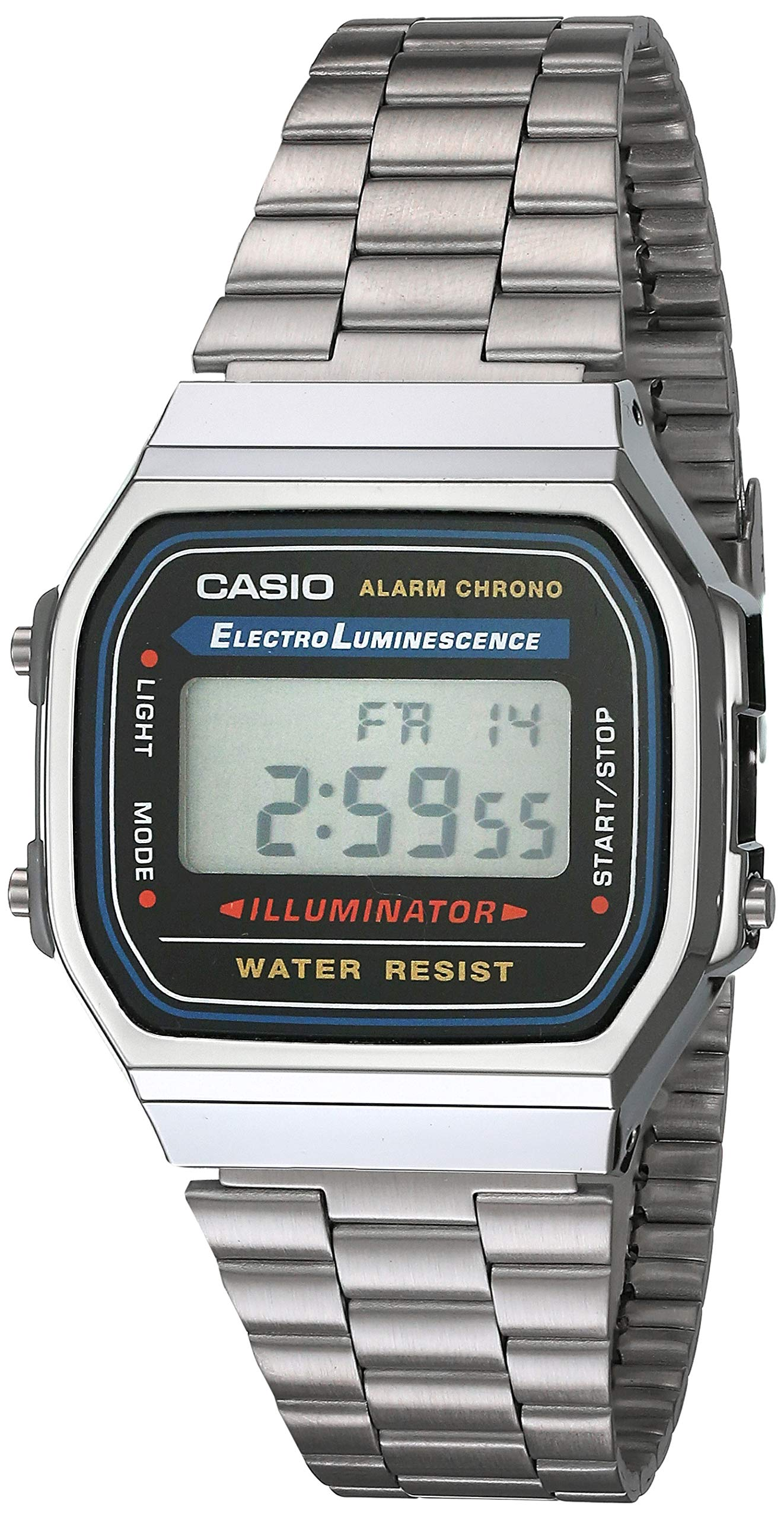 Casio Men's Vintage A168WA-1 Electro Luminescence Watch by Casio