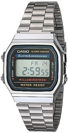 A168wa CuadradoDigitalColor Unisex Casio Gris Plata Reloj Y 1yes N0vw8nm