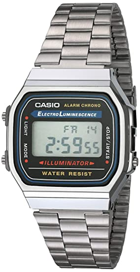 cab6505341b Amazon.com  Casio Men s Vintage A168WA-1 Electro Luminescence Watch ...