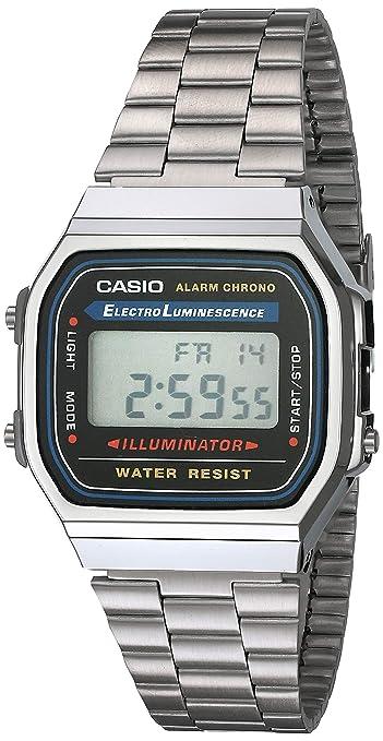 Amazon.com: Casio - reloj con calculadora, modelo A168WA-1 ...