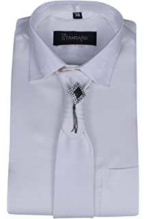 9d165a35e8d SSB Men s Cotton Party Wear Solid Black Shirts  Amazon.in  Clothing ...
