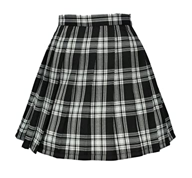 superior quality wholesale outlet new style & luxury Women`s high Waisted Plaid Short Sexy A line Skirts Costumes ...