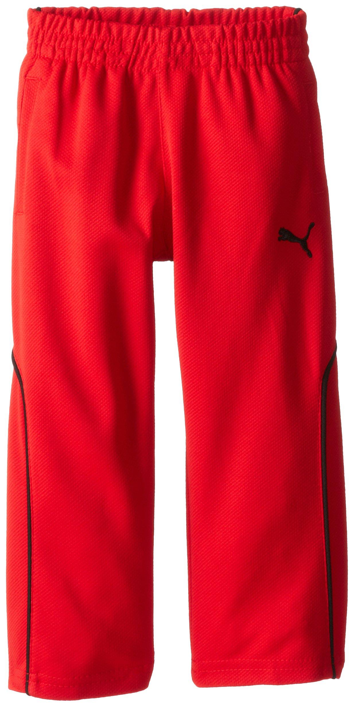 PUMA Little Boys' Training Pant 2, Red, 4T