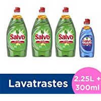 Salvo Lavatrastes Líquido Limón y Botella Power Clean, 2.55 L