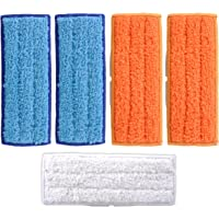 KEEPOW 5 Pcs Washable Mopping Pads for iRobot Braava Jet 240