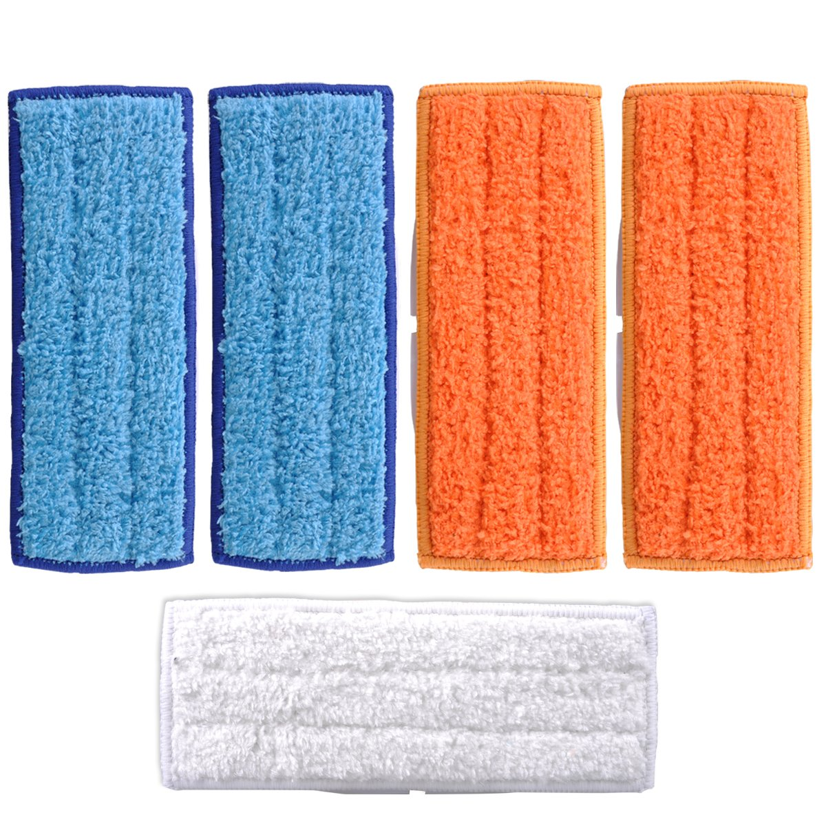 KEEPOW 5 Packs Washable Mopping Pads for iRobot Braava Jet 240 241 Included (2 pcs Wet Pads, 2 pcs Damp Pads and 1pcs Dry Pad) SYNCHKG108378