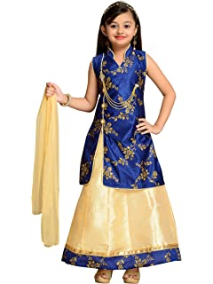 e8b8f1af26 ADIVA Girl's Brocade Blend Lehenga Choli: Amazon.in: Clothing ...