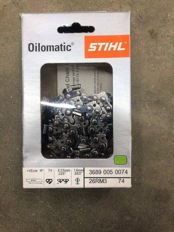 3 x Chaine de tronconneuse 325 063 1,6mm 74 Maillons