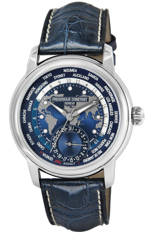 [フレデリックコンスタント]FREDERIQUE CONSTANT 腕時計 ワールドタイマーマニュファクチュール ブルー文字盤 718NWM4H6 メンズ 【並行輸入品】 B078YH9NMT