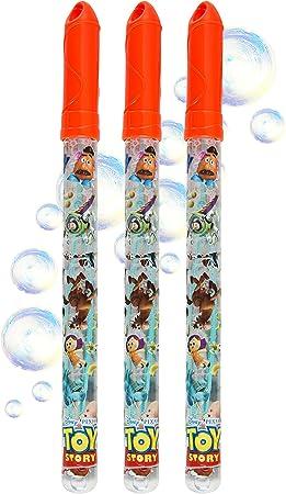 Disney Toy Story Pomperos para Niños, Toy Story Juguetes con Personajes Buzz Lightyear Mr Potato, Pack de 3 Varitas Pompas de Jabon, para Interior Exterior, Regalos Originales Niños 5+: Amazon.es: Juguetes y