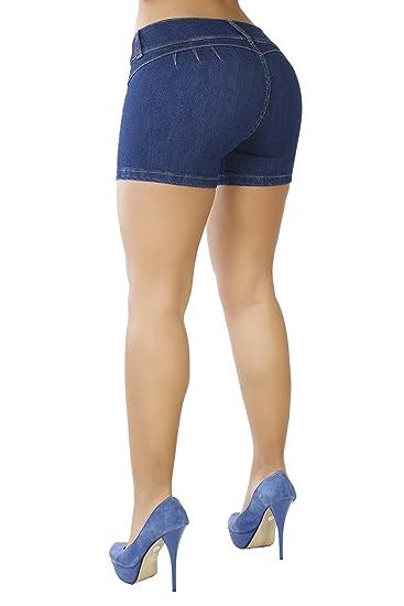 594b451d6e Estos shorts son hechos de spandex de alta calidad y con pequeños cortes en  la cinturilla permite levantar las nalgas fácilmente.
