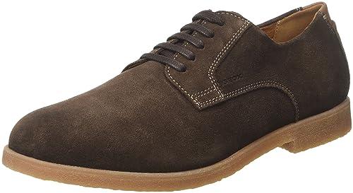 U Damocle B, Zapatos de Cordones Brogue para Hombre, Gris (Dk Grey), 41 EU Geox