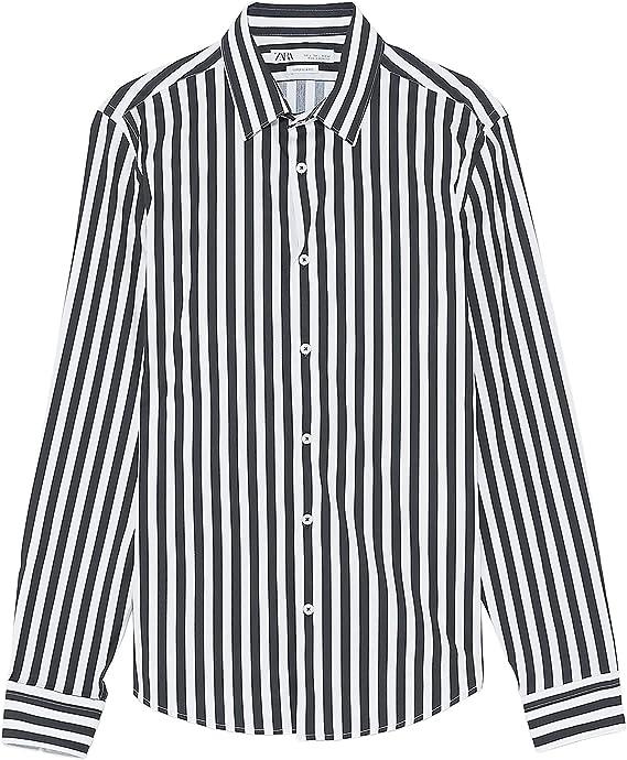 Zara 4084/471 - Camiseta de Manga Corta para Hombre - Negro - Large: Amazon.es: Ropa y accesorios