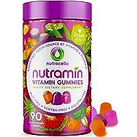 NUTRAMIN Daily Vegan Keto Multivitamin Gummies Vitamin C, D3, and Zinc for Immunity, Plant-Based, Sugar-Free, Nut-Free…