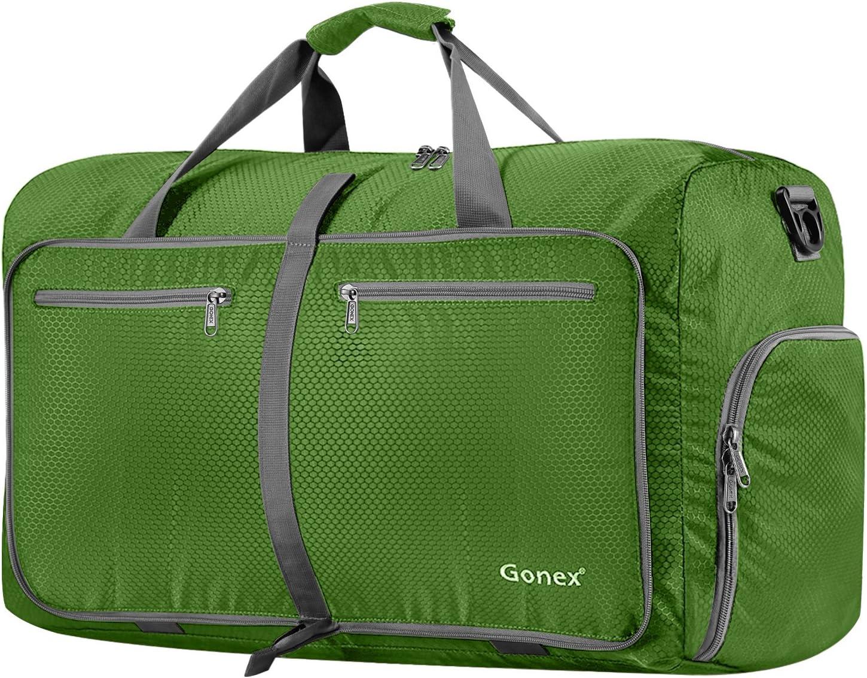 Gonex Sac de Voyage 80L Sac Pliable Sac imperm/éable Pliant pour Camping Randonn/ée Voyage